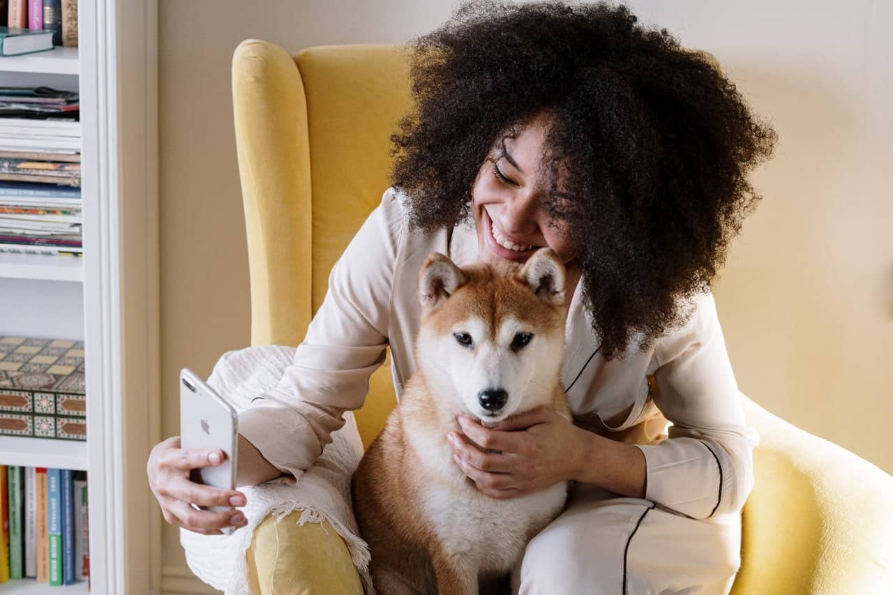 Riddles for adults girl phone and a dog